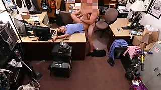 Brunette with glasses fucked by pawn guy