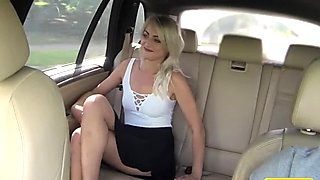 Fake Taxi Short skirt minx rides cock in taxi