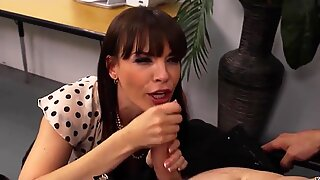 Darling Dana Dearmond looks sexy at the office