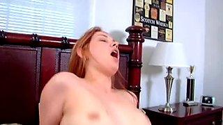 Sweet red head girl Heidi Besk gets fucked