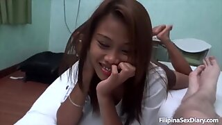 ASIANSEXDIARY Two Petite Filipina Girls Tag Team Foreigner