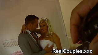 Michelle Thorne behind the scenes on her wedding day