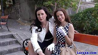 English milf plays with gorgeous babe - Gorgeous Glamour